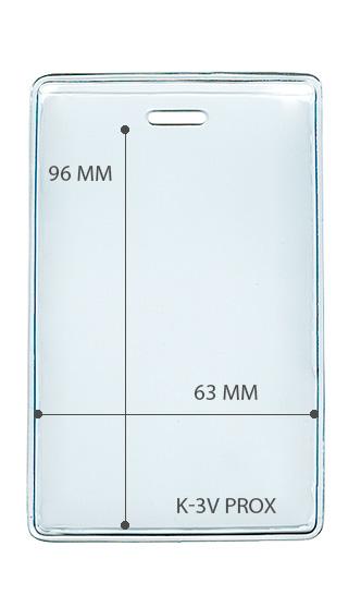 Карман вертикальный для карты доступа 63*98