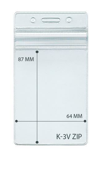 Карман вертикальный с  ZIP-LOCK. стандартный
