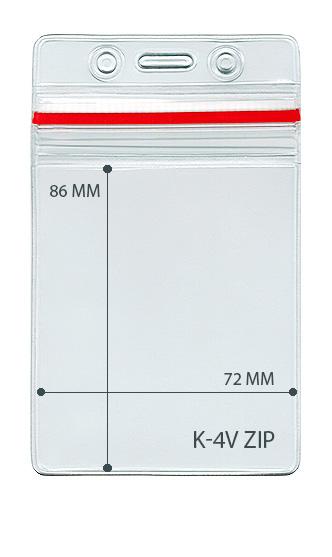 Карман вертикальный с  ZIP-LOCK. для карт доступа