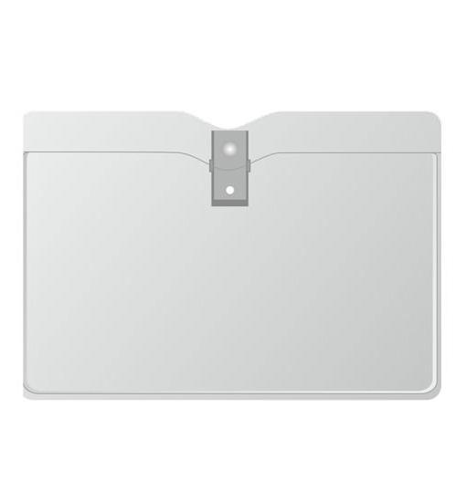Горизонтальный карман с металлической клипсой. 102*67