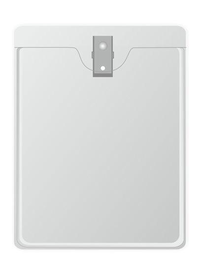 Вертикальный карман с металлической клипсой. 72*91