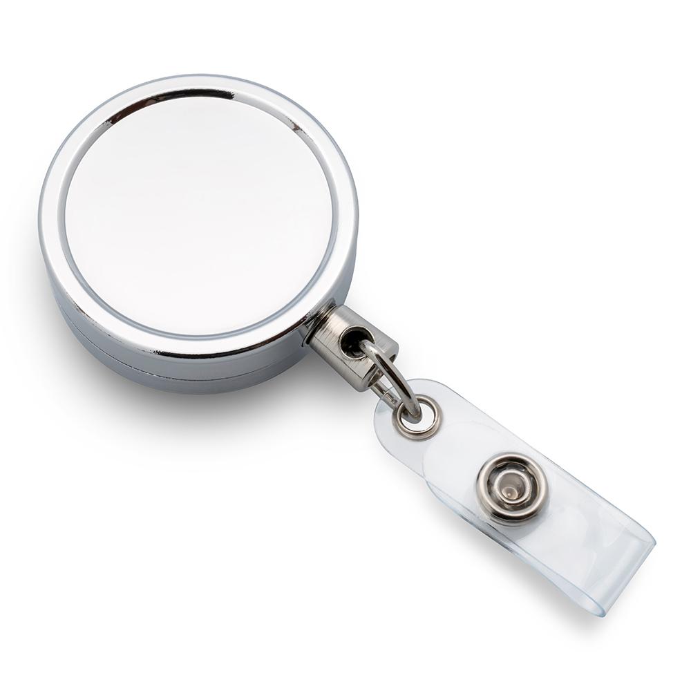 Металлический брелок-ретрактор(круглый)