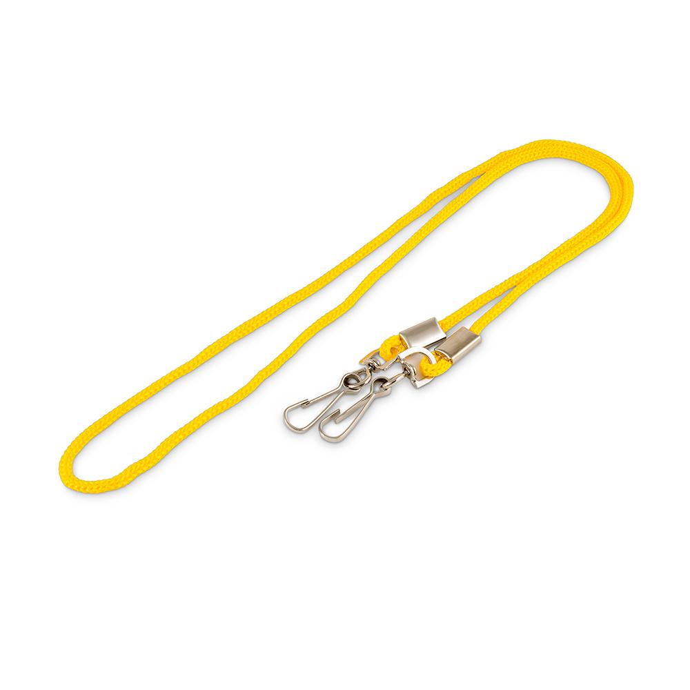 Шнурок для бейджа с двумя поворотными карабинами