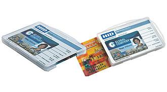 KDGHV-205 - Бейдж жесткий (открытый) для двух пластиковых карт