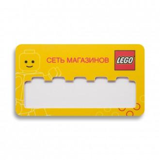 Бейдж с окном. Lego