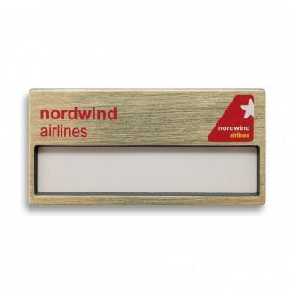 Бейдж с окном. Nordwind Airlines