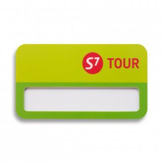 Бейдж с окном. S7 Tour