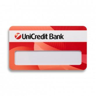 Бейдж с окном. UniCredit Bank