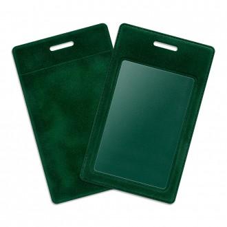 Карман из бархата - зеленый