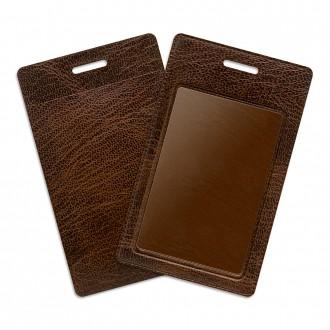 Карман из экокожи - коричневый