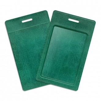 Карман из экокожи - зеленый