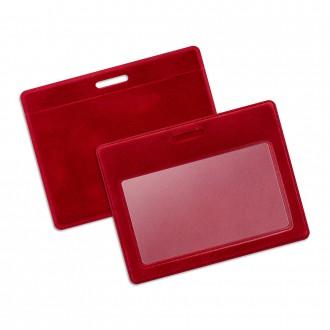 Карман из бархата горизонтальный - красный