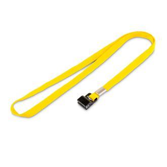 Однотонная лента. Пластиковая клипса. Желтая