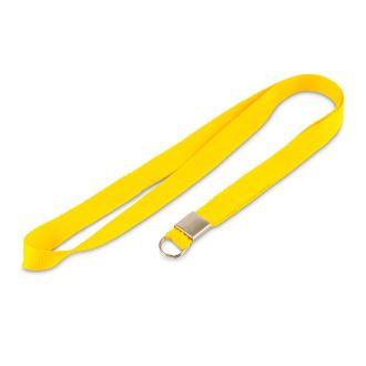 Однотонная лента. Кольцо. Желтая
