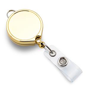 Золотой брелок-ретрактор(круглый)