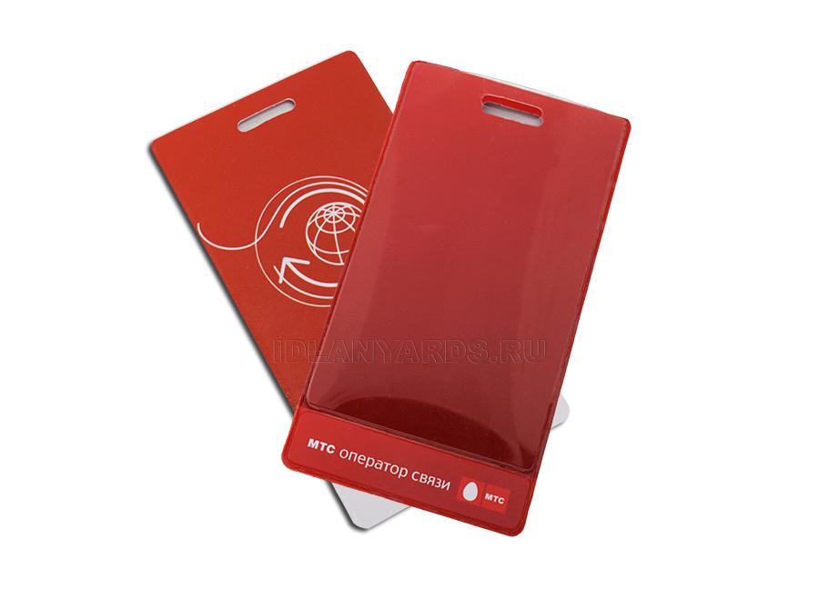 Вертикальный карман с печатью и планкой под логотип